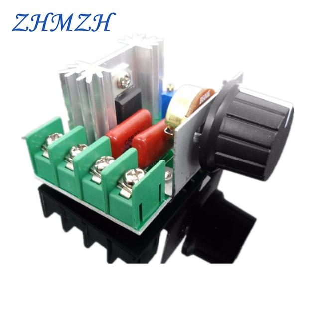 2000 W тиристорный электронный регулятор света 220 V силиконовый регулируемый выпрямитель SCR Напряжение регулятор Скорость Управление температурный термостат