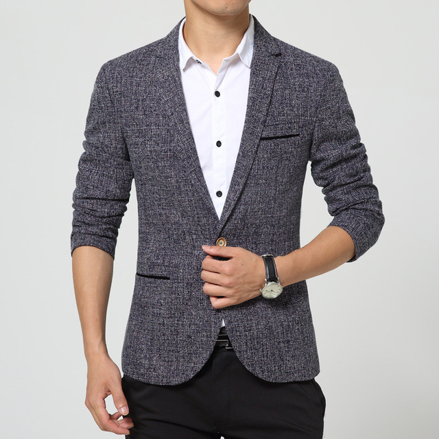 126c16648 Informal Fashion Classic Gray New Designs Mens Blazer Mens Autumn And  Winter Pocket Solid Color Personalized