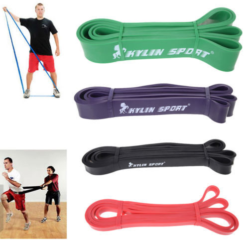 ФОТО Set of 4 new hot elastic resistance strength power bands fitness equipment for wholesale and free shipping rising  sport