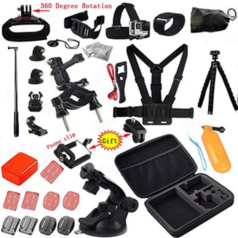 Tekcam Action Cam Accessoires pour Sony AS200V x3000 AS100V AS10 AS20 ION Air Pro Gopro 5 SJCAM xiaomi yi 4 k D'action Caméra