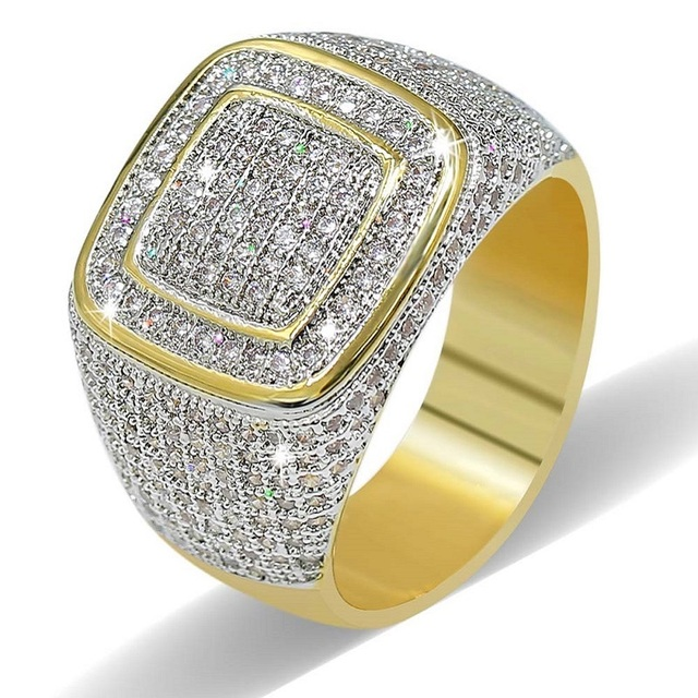 TOPGRILLZ Rings For Men Women Iced Out High Quality Cubic Zirconia Rings With Je