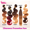 Clearance Promotions!!8A Ombre Brazilian Hair Body Wave Ombre Hair Bundle,Hot Ombre Brazilian Human Hair Wavy Weave Extension