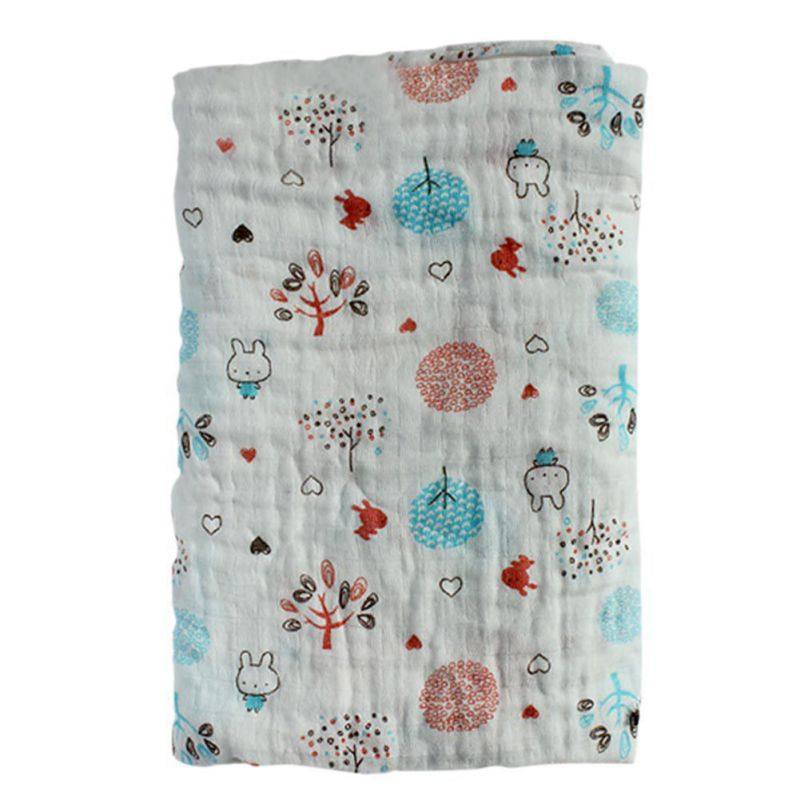 Spring Autumn Cotton Blankets Baby Swaddles Cute Cartoon Newborn Baby Blankets White Black Gauze Bath Towel