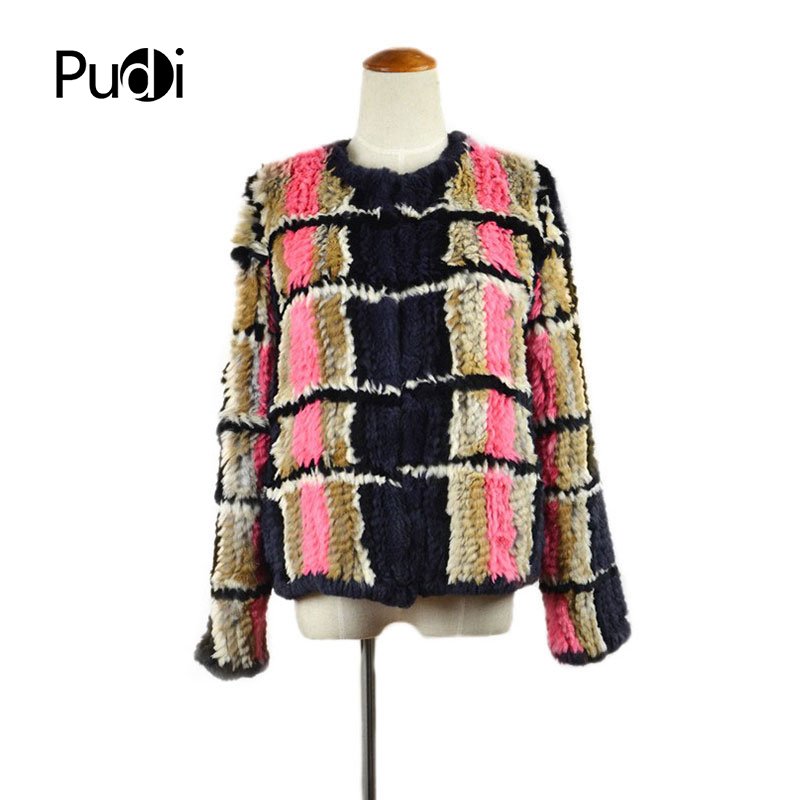 CR032 2017 new style women's knitted overcoat chic tartan is designed to keep warm