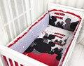 Promoción! 6 unids Mickey Mouse Boy cuna cuna del lecho llua cuna parachoques ( bumpers + hojas + almohada cubre )