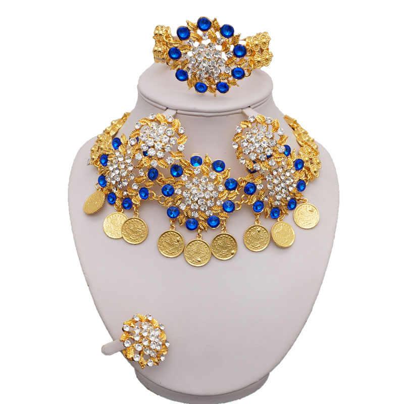 Hochzeit sets schmuck gold african big schmuck sets afrikanische perlen schmuck-set 24k großhandel afrikanische schmuck halskette