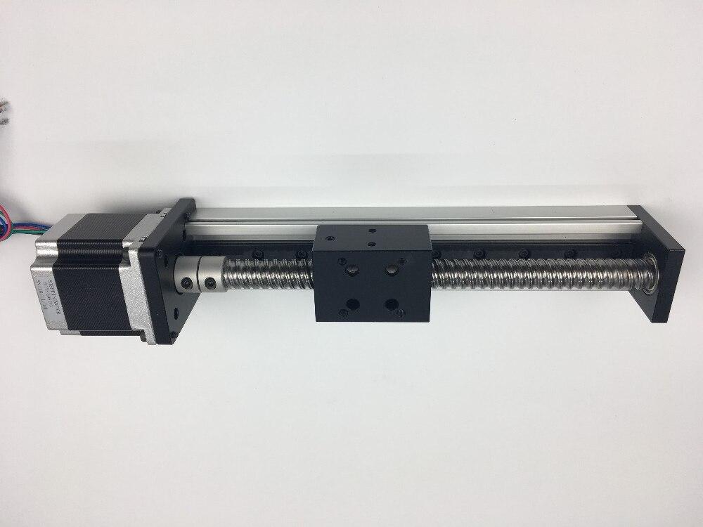 Free Shipping CNC SGX 1204 Ballscrew Sliding Table effective stroke 400mm+1pc nema 23 stepper motor XYZ axis Linear motion free shipping cnc 800mm stroke cnc linear guide kit for three axis machine