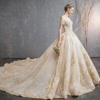 Романтический Elegent длинное платье для беременных Boat neck короткий рукав Шампанское Кружева длинным Беременность платье Роскошные Длинные пл