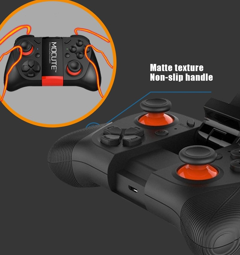 Hot!MOCUTE Wireless Bluetooth Games Handle 3.0 Controller Dual Joystick for Iphone and Android System & Laptop and VR 3D Glasses 8