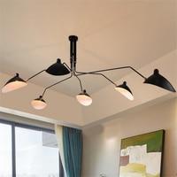 Железный потолочный светильник American Retro промышленных Led современный минималистский дизайнер люстры лампы Гостиная Хрустальная люстра