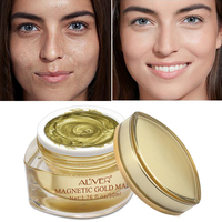 ALIVER Magnetic Face Gold Mask Mineral Rich Pore Cleansing Removes Skin Impurities Whitening Moisturizing Mask for the Face