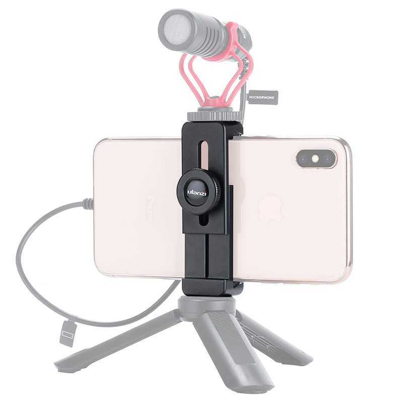 Ulanzi ST-02L 電話ホルダー三脚マウントクイックリリース電話ホルダーとコールド靴 iphone X XS 最大 Huawei 社サムスン xiaomi