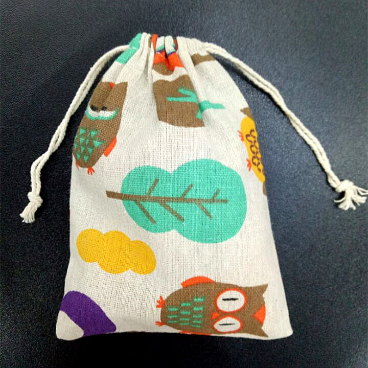 10pcs Lovely Garden Linen Drawstring Pouches Travel Christmas Wedding gift Bags Jewlery Beads Phone packing Gift Pouch 10*14cm