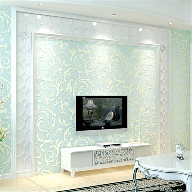 beibehang  Modern minimalist TV background wallpapers 3D stereoscopic nonwovens living room bedroom European wallpapers  behang