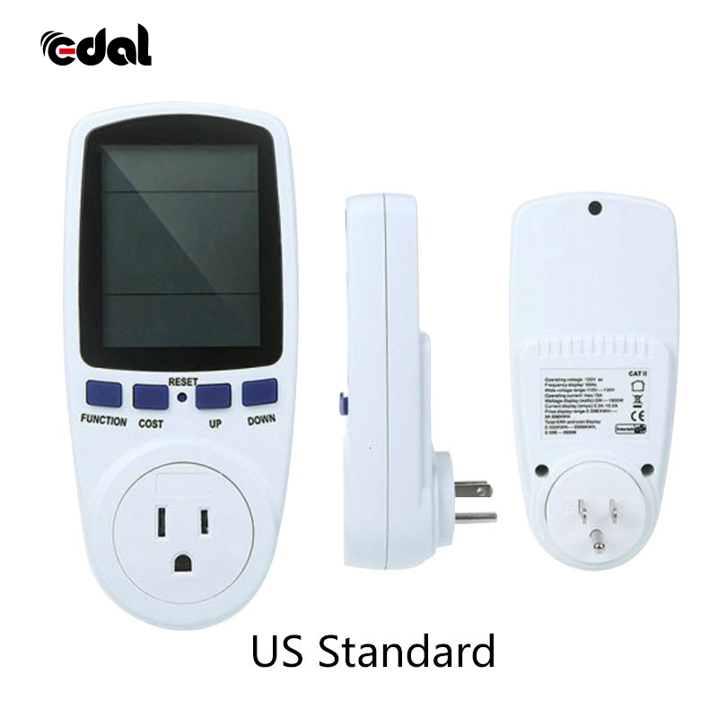 Digital EU/UK/AU/US Plug Voltage Wattmeter Power Analyzer Electronic Power Meter Energy Meter Automatic Power Switch Outlet