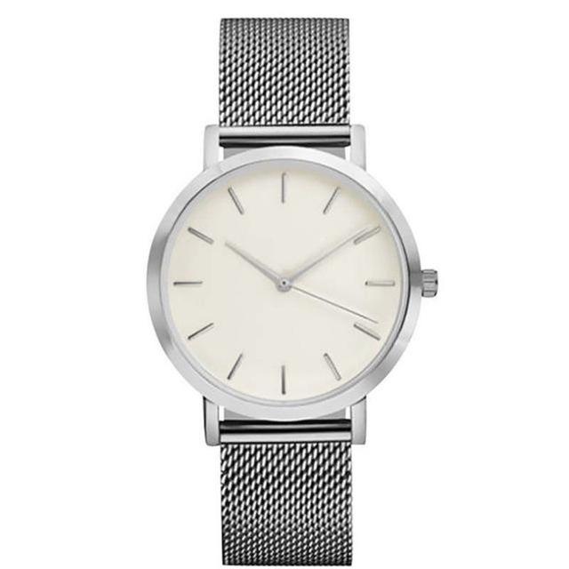 2018 Luxury Women Metal Mesh Watch Simplicity Classic Wrist Fashion Casual Quartz High Quality Women's Watches Relogio Masculino