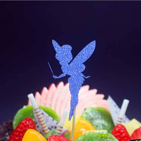 Lovely Angel Happy Birthday Cake Flag Topper Multi Colors For Wedding - Festive and Party Supplies - Photo 5