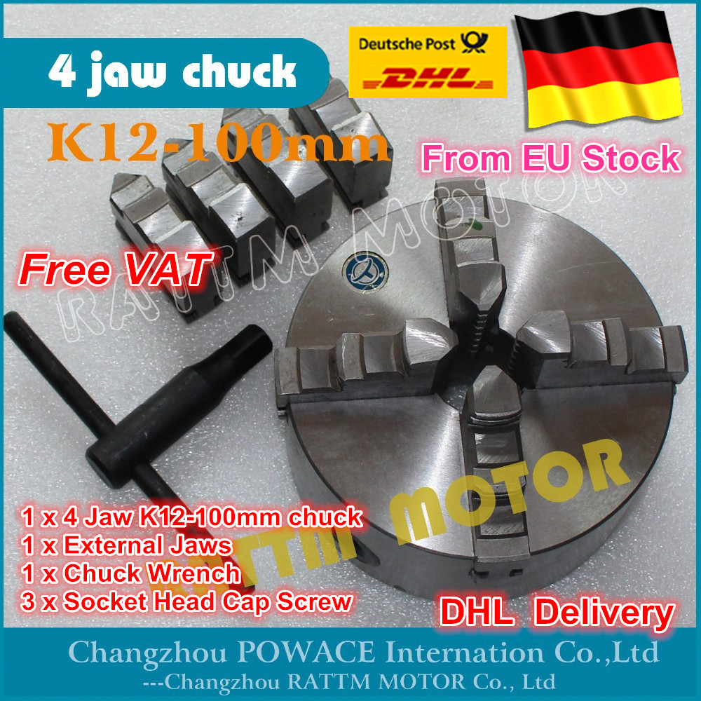 DE ship free VAT Manual chuck Four 4 jaw self-centering chuck K12-100mm 4 jaw chuck Machine tool Lathe chuck four 4 jaw self centering chuck k12 125mm 4 jaw chuck machine tool lathe chuck