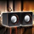 Mini speaker 3.5mm Mini Stereo Audio Speaker Subwoofer Speakers for Desktop Laptop Tablet Mobile Phone/ PC/ MP3/MP4