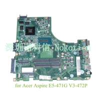NOKOTION DA0ZQ0MB6E0 REV E N9MN3WW002 N9.MN3WW.002 for acer aspire E5 471G V3 472P laptop motherboard NVIDIA 820M i5 5200U