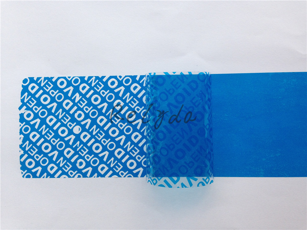 2pcs Free shipping BOPP / PET self adhesive seal security packaging tape VOID OPEN tampering during transportation BLUE 30mm*15m free shipping 2 meters self adhesive flexible magnetic strip magnet tape width20x1 5mm ad teaching rubber magnet
