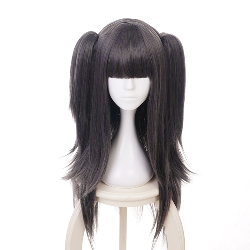 Fire Emblem Awakening Tharja Two Ponytails Wig Cosplay Costume Women Long Synthetic Hair Halloween Party Wigs