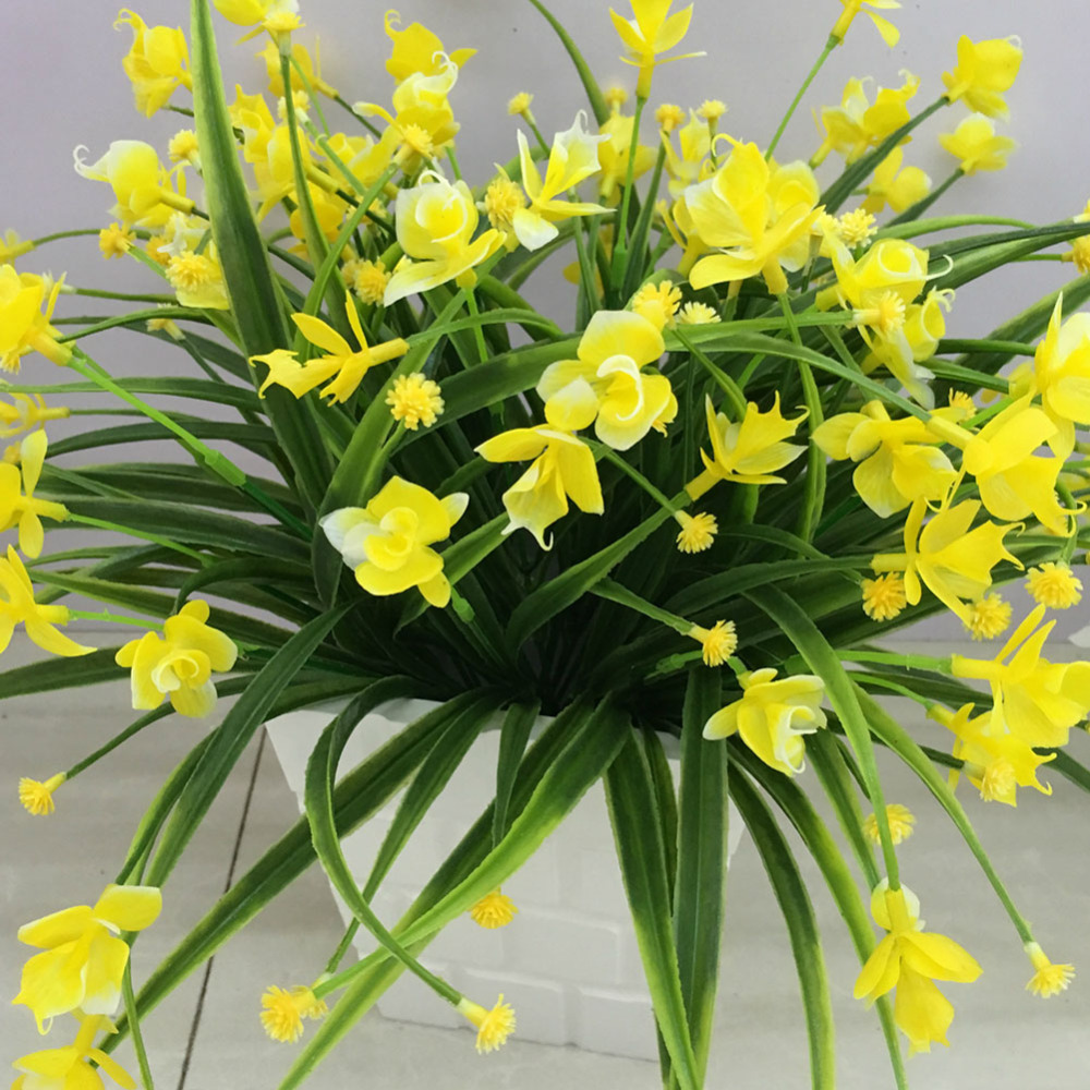 1 Bunch Artificial Flowers With Leaf Wedding Decoration Simulation