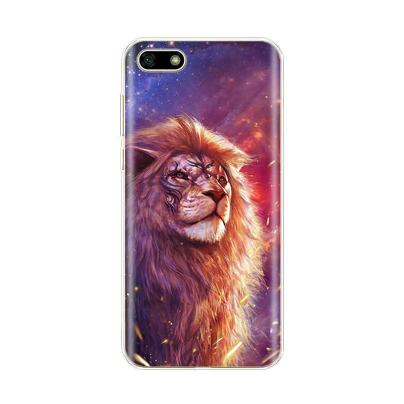 """Silikon Case untuk Huawei Kehormatan 7A Case 5.45 """"Inch Lembut untuk Huawei Honor 7 A DUA-L22 Bahasa Rusia back Cover Coque Bumper"""