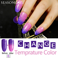 Natural puro extraído nuevo esmalte de uñas de gel Saludable marca-Lavanda necesita uv led para Cambio de Color de Temperatura Térmica