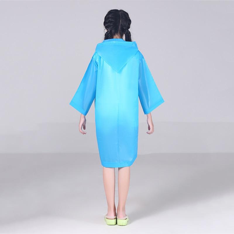FGHGF EVA прозрачный модный матовый детский дождевик для девочек и мальчиков плащи открытый пеший Туризм Путешествия дождевик