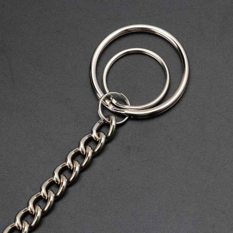 Hip Hop spodnie łańcuch bezpieczne portfel podróżny łańcuch Heavy Duty dżinsy ogniwo cewki smycz