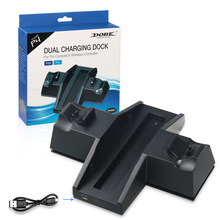 Controller di Raffreddamento di Ricarica Stazione del Caricatore del basamento con HUB USB e Dischi di Gioco Rack di Stoccaggio per PS4/PlayStation 4 console