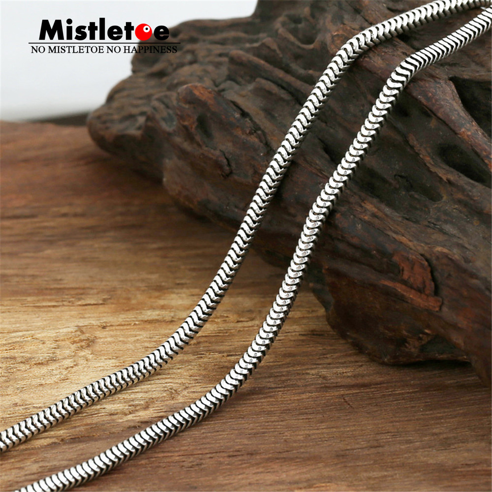Authentic 100% 925 Sterling Silver Classic Vintage 3.0mm Snake Necklace Chain Jewelry For Women Or Men slovecabin europe classic 925 sterling silver snake charm necklace with clasp for men 2017 popular silver snake chain necklace
