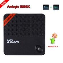 Date X9 PRO Android 6.0 Tv Box Amlogic S905X Quad Core smart Tv RAM 1 GB ROM 8 GB WiFi VP9 4 K * 2 K HDMI 2.0A Smart Media lecteur