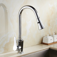 New Design Pull Out Kitchen Faucet Chrome 360 Degree Swivel Kitchen Sink Faucet Mixer Tap Kitchen