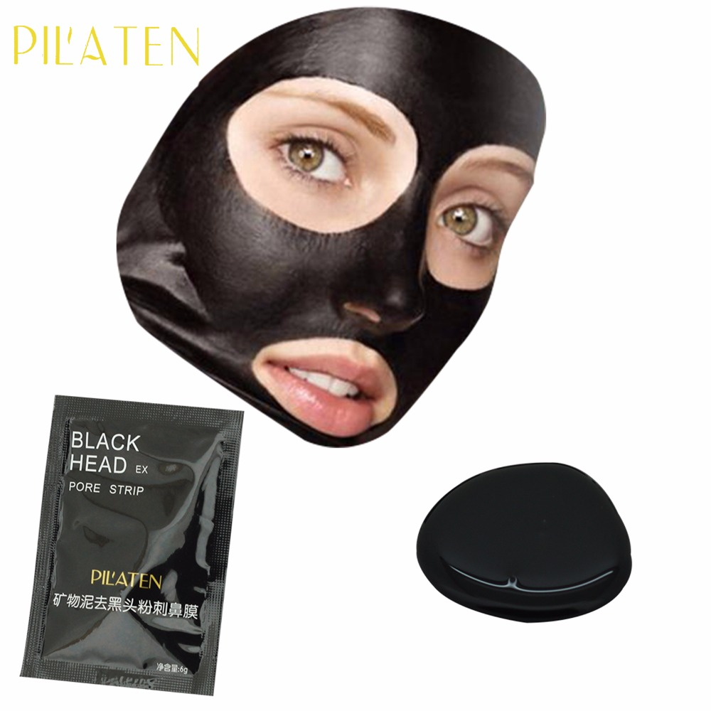 Hot 1 pcs Pilaten Blackhead Remover Mask Pore Cleanser For Nose And Facial Deep Cleansing purifying