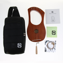 7 Strings Lyre Harp Harfe Arpa with Tuning Wrench & Storage Bag Cleaning Cloth Accessories