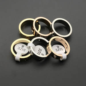 Engagement-Ring Screw-Rings Wedding-Jewelry Titanium Steel Wholesale Carter Women Love