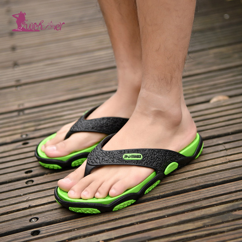 Lurehooker 2019 Summer Men Flip Flops Man Sandals Bathroom Slippers Fashion Summer Beach Sandal Outdoor Beach Flip Flops Sandal