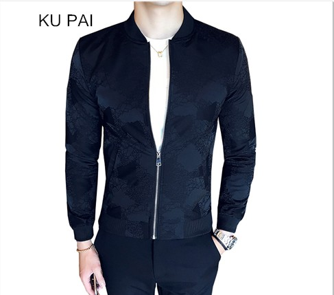 2017 autumn coat mens clothing Chinese mens baseball clothing thin section of the trend of Korean handsome casual jacke men ...