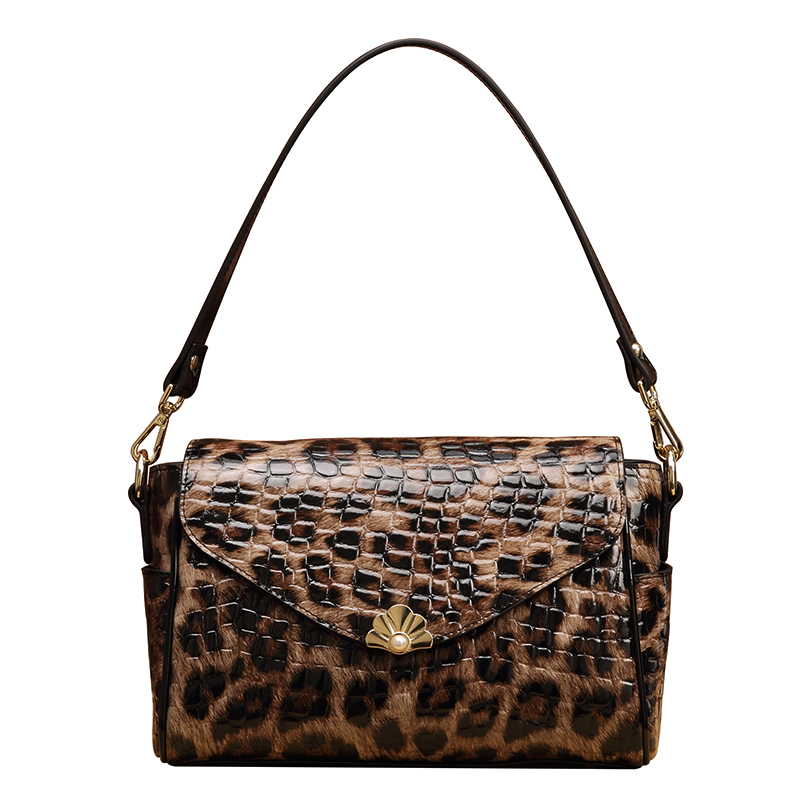 2019 New Pure Leather Shoulder Leather Female Bag Leopard Print Practical Large Capacity Women Purses and Handbags2019 New Pure Leather Shoulder Leather Female Bag Leopard Print Practical Large Capacity Women Purses and Handbags