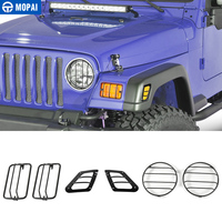 MOPAI Car Exterior Front Bumper Side Turn Signal Light Headlight Decoration Cover for Jeep Wrangler TJ 1997-2006 Car Styling