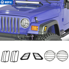 MOPAI автомобильный внешний передний бампер боковой указатель поворота фары украшения крышка для Jeep Wrangler TJ 1997-2006 автомобильный стиль