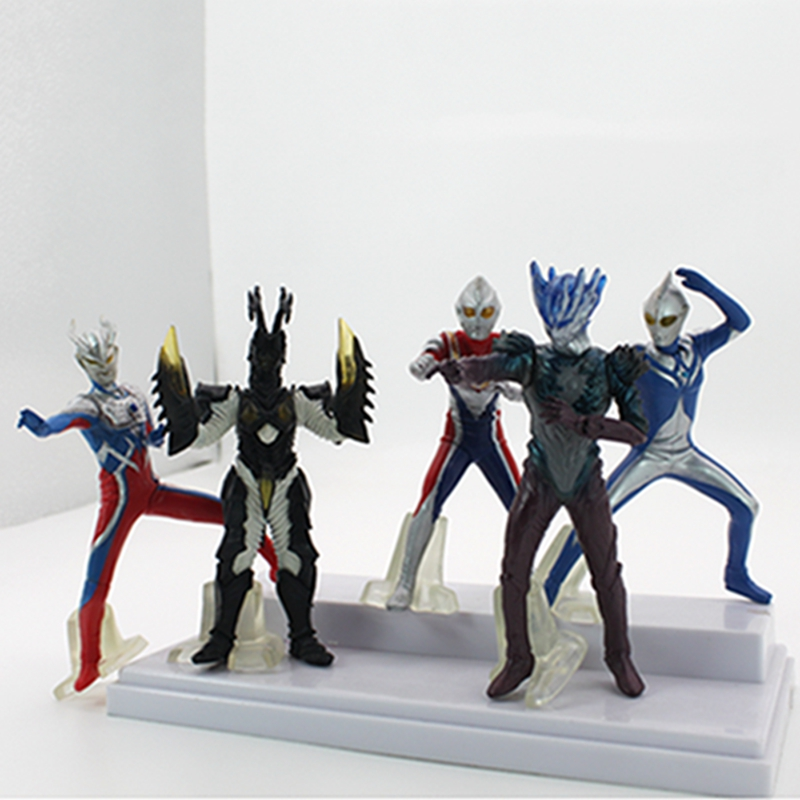 5pcs/lot Anime Ultraman Edition PVC Action Figure Collectible Model Toy anime dragon ball super saiyan 3 son gokou pvc action figure collectible model toy 18cm kt2841