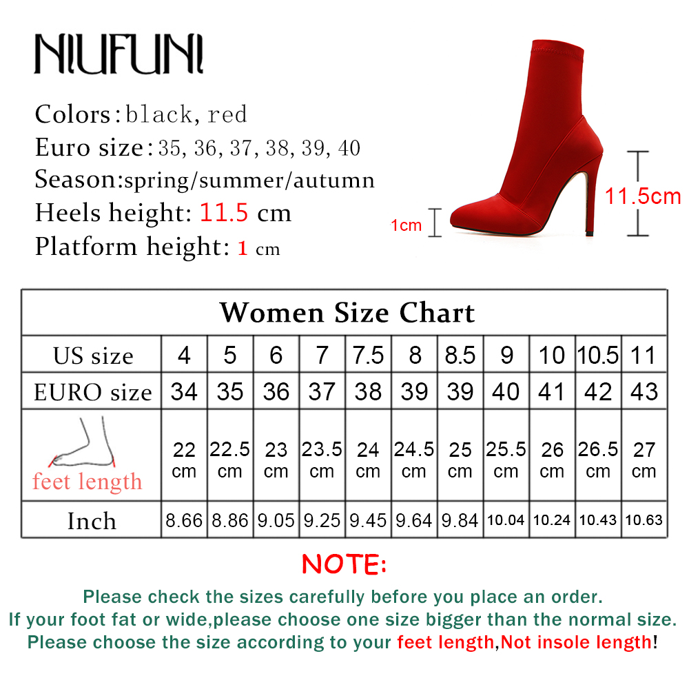 Ladies Womens High Heel Sock Ankle Boots Knit Stretch Pull On Casual Shoes Sizes