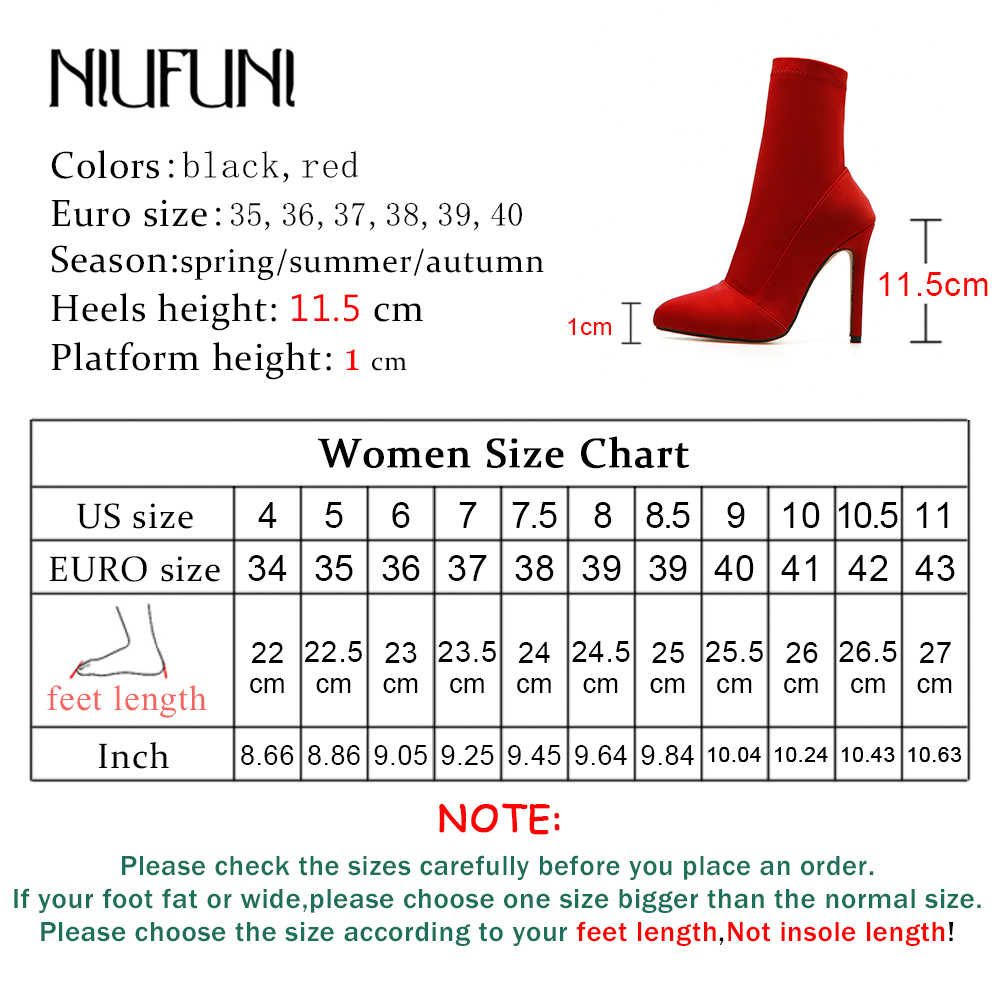 ce029a2b0 ... Fashion Women Stretch Lycra Stiletto High Heels Pointed Toe Ankle Boots  Slip On Pull On Sock