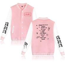 Rapper Singer Lil Peep Baseball uniform Print Men/Women Coats Keep warm high quality Sweatshirt Hot Men Jackets
