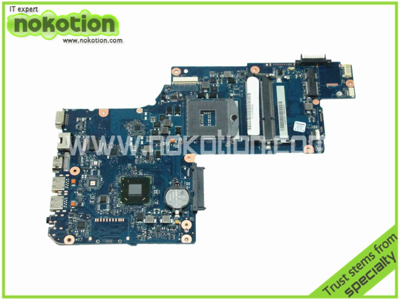 NOKOTION brand new Laptop motherboard For Toshiba Satellite L870 L875 Intel HM76 GMA HD4000 DDR3 Socket PGA989 H000038240 for toshiba satellite l745 l740 intel laptop motherboard a000093450 date5mb16a0 hm65 tested