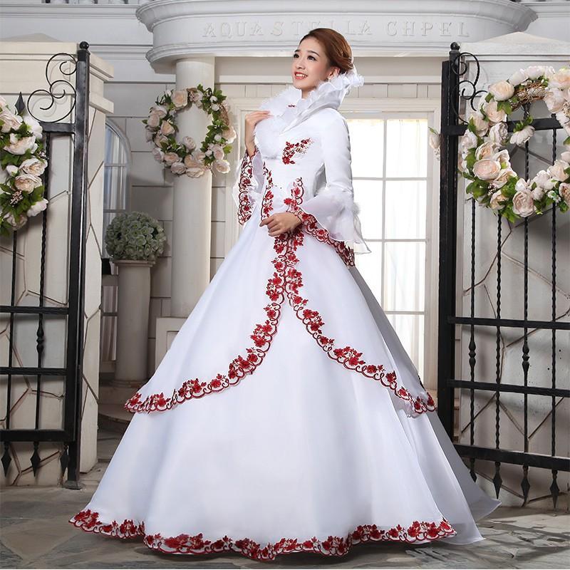 Bride Winter Fur Warm Long Sleeve Weeding Dress Women Prom Ball Gown Clothing /&/&