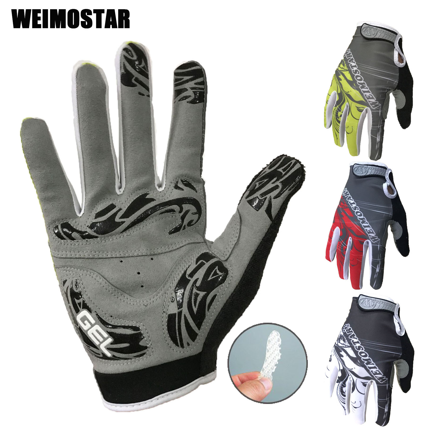 Wholesale Weimostar Full Finger Cycling Gloves Guantes Ciclismo Gel Rockbros S109 1 Bike Glove Sarung Tangan Sepeda Red Teleyi Sport Shockproof Mtb Touch Screen Man Woman Bicycle Sponge